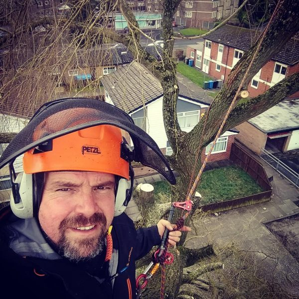 Manchester tree surgeon Mark Hilton