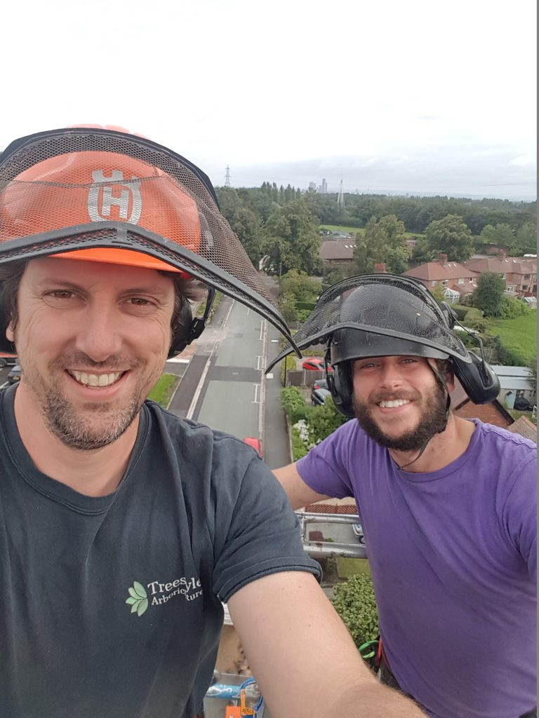 Manchester tree surgeons Steve Canham and Mark Taylor